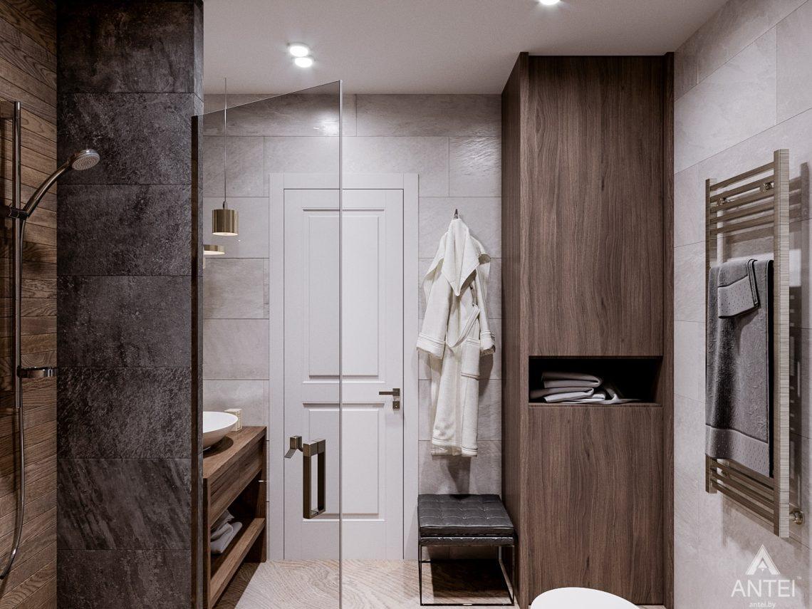 Дизайн интерьера трехкомнатная квартира в Светлогорске - санузел фото №3
