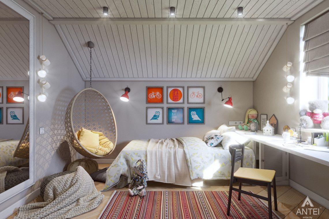 Дизайн интерьера дома c мансардой в Гомеле - детская комната фото №1