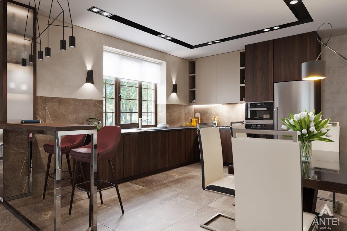 Дизайн интерьера дома в п. Большевик - гостиная-кухня фото №5