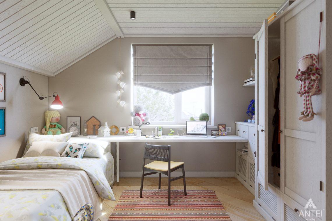 Дизайн интерьера дома c мансардой в Гомеле - детская комната фото №2
