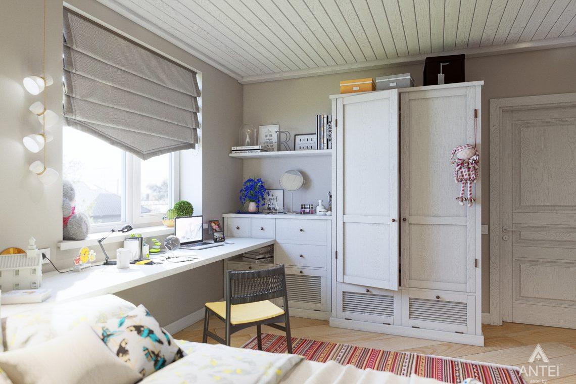 Дизайн интерьера дома c мансардой в Гомеле - детская комната фото №3