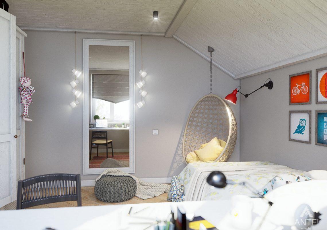 Дизайн интерьера дома c мансардой в Гомеле - детская комната фото №4