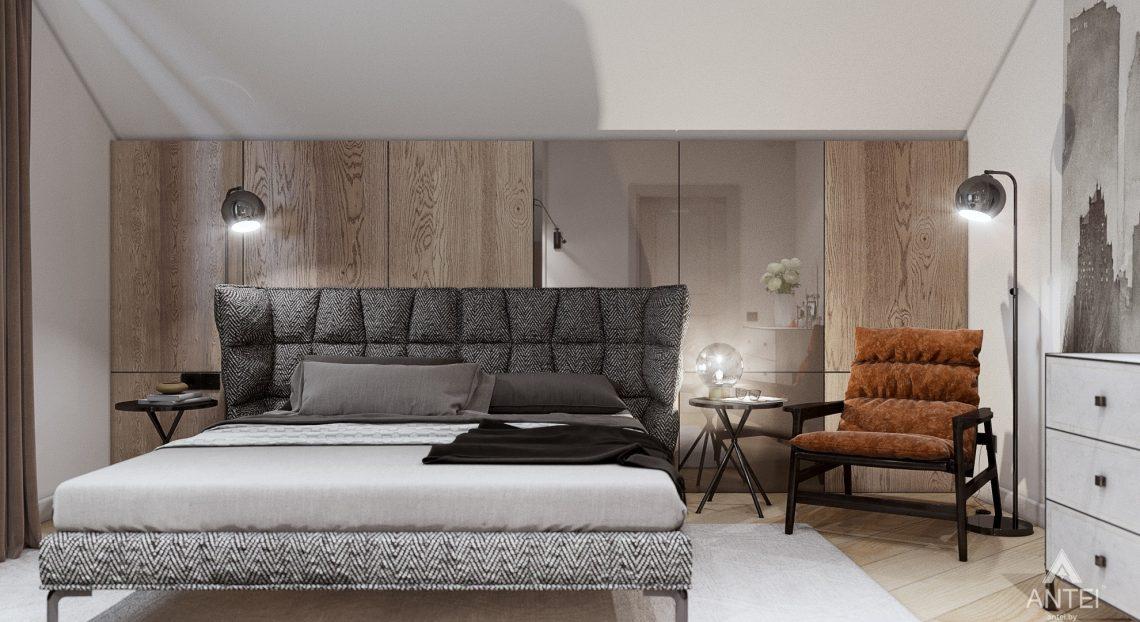Дизайн интерьера дома c мансардой в Гомеле - спальня фото №1