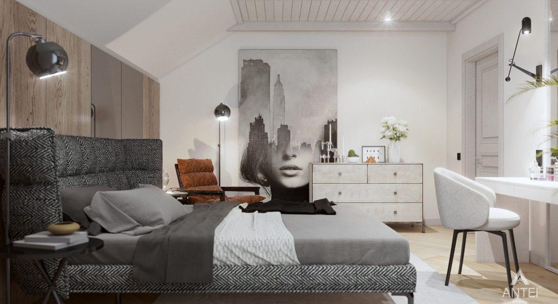 Дизайн интерьера дома c мансардой в Гомеле - спальня фото №2