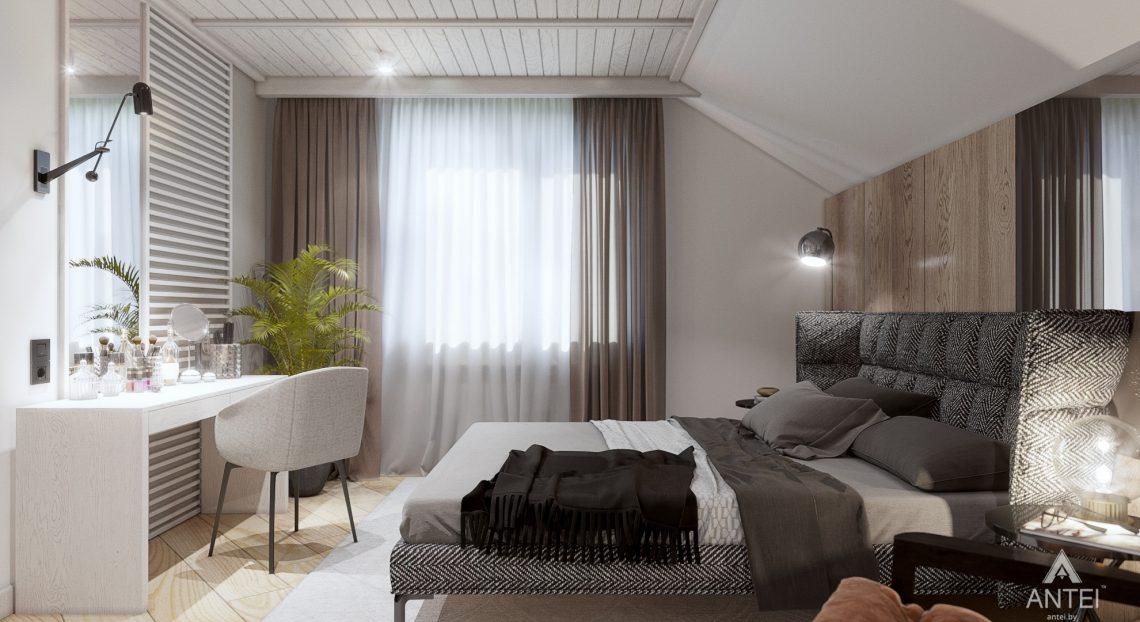 Дизайн интерьера дома c мансардой в Гомеле - спальня фото №3