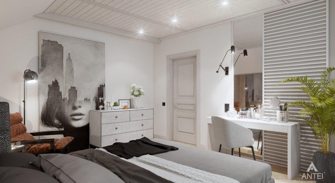 Дизайн интерьера дома c мансардой в Гомеле - спальня фото №4