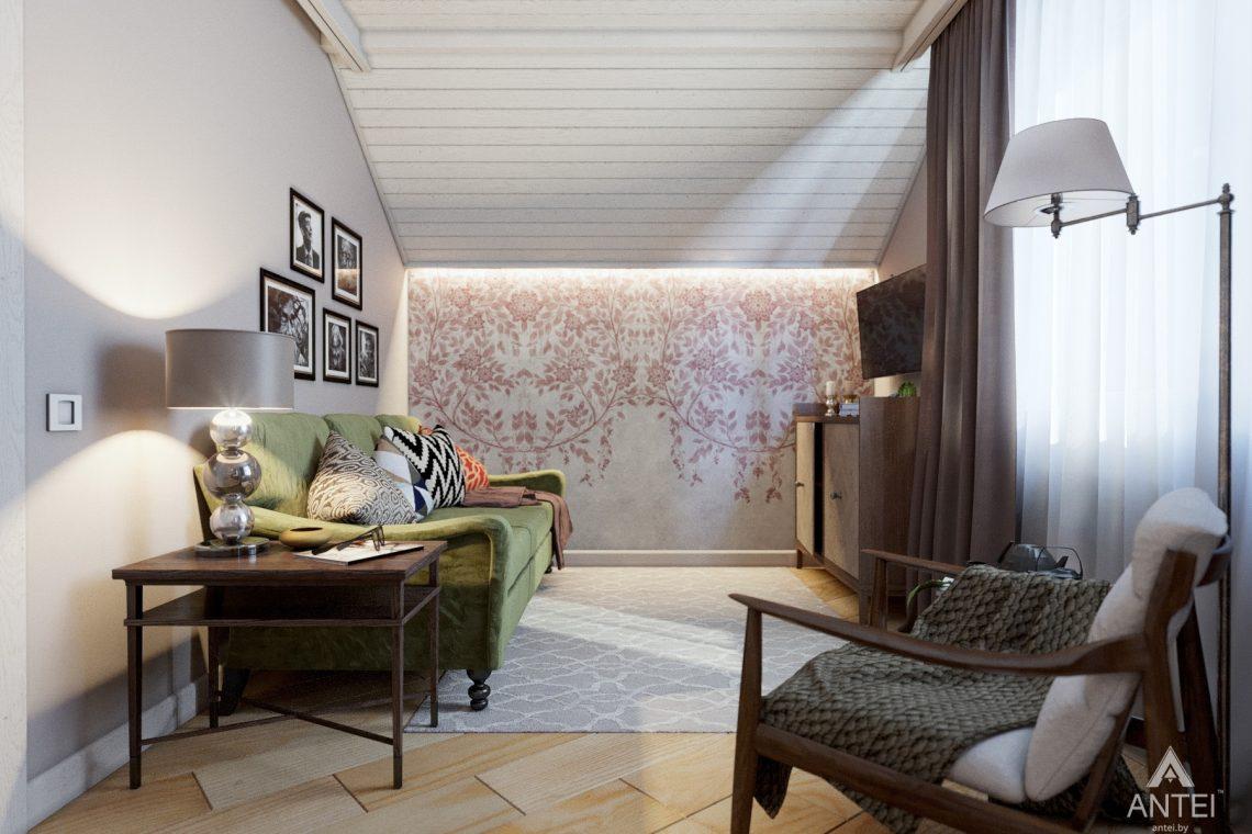 Дизайн интерьера дома c мансардой в Гомеле - комната отдыха фото №2