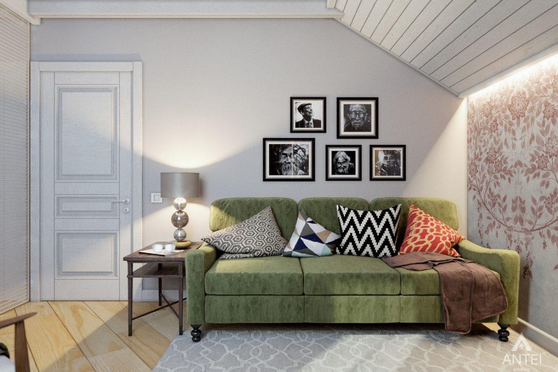 Дизайн интерьера дома c мансардой в Гомеле - комната отдыха фото №3