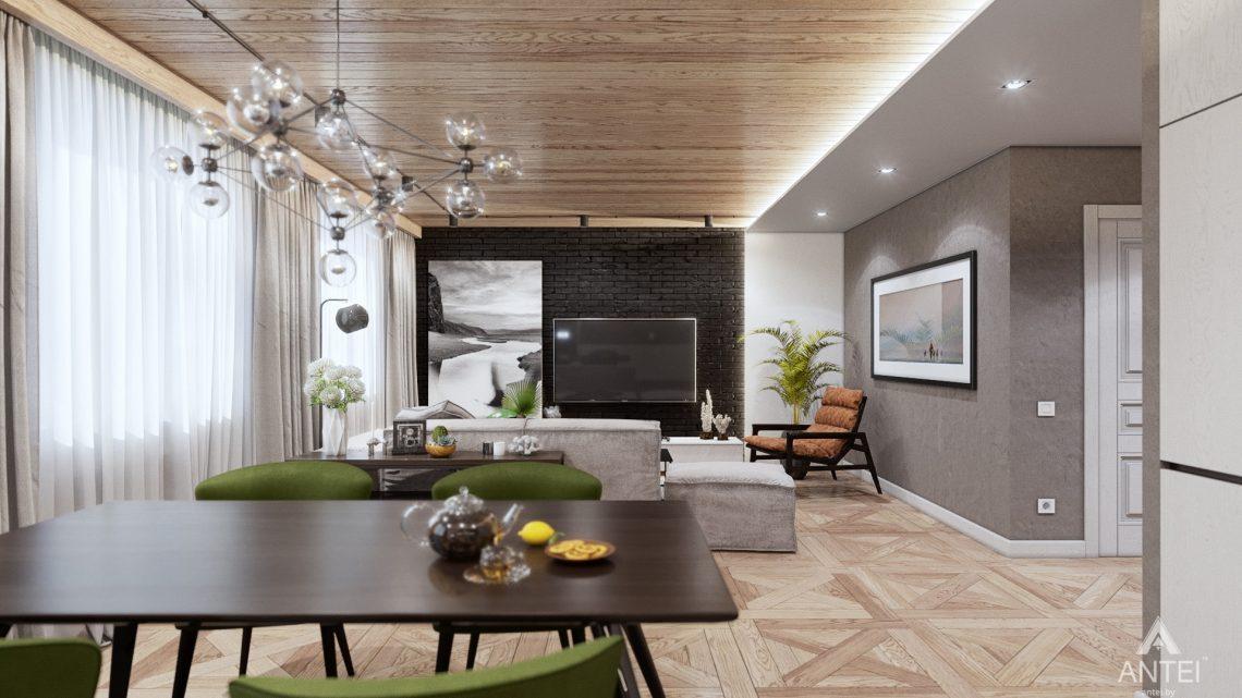 Дизайн интерьера дома c мансардой в Гомеле - кухни-гостиной фото №3