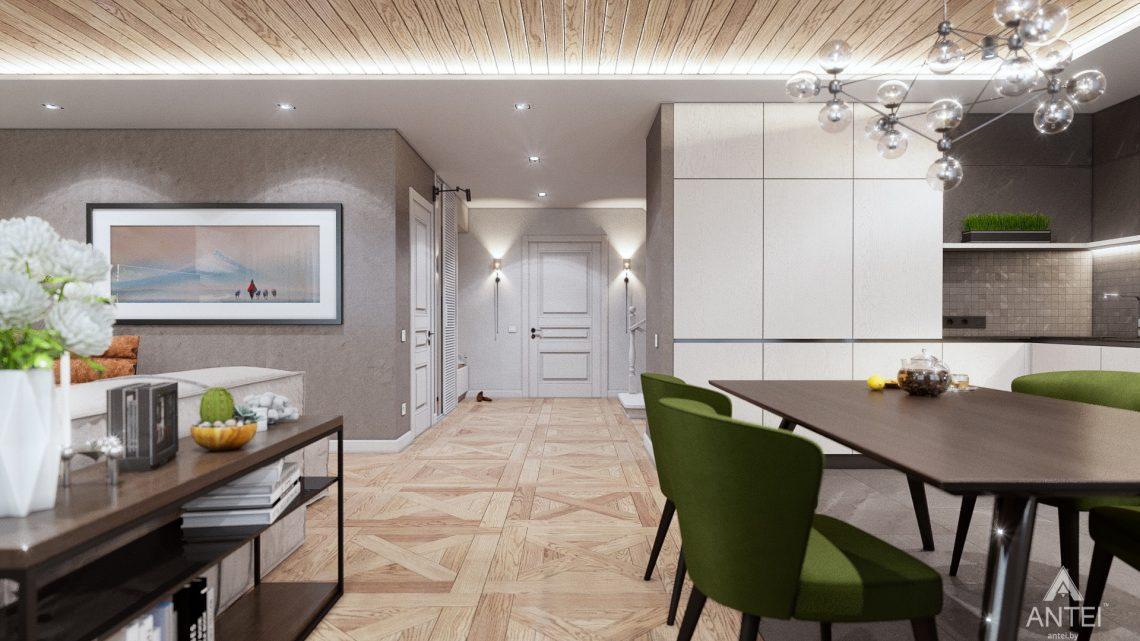 Дизайн интерьера дома c мансардой в Гомеле - кухни-гостиной фото №7