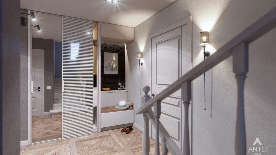 Дизайн интерьера дома c мансардой в Гомеле - прихожая фото №3