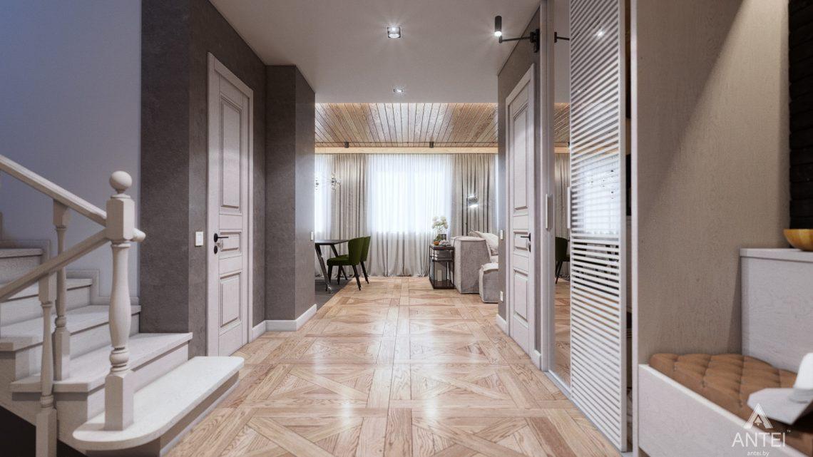 Дизайн интерьера дома c мансардой в Гомеле - прихожая фото №1
