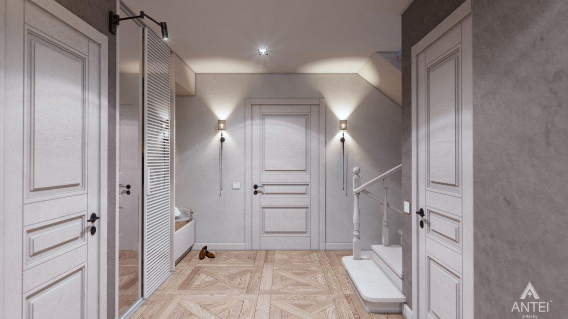 Дизайн интерьера дома c мансардой в Гомеле - прихожая фото №2
