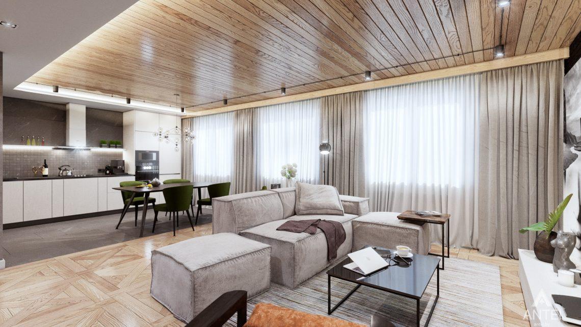 Дизайн интерьера дома c мансардой в Гомеле - кухни-гостиной фото №4