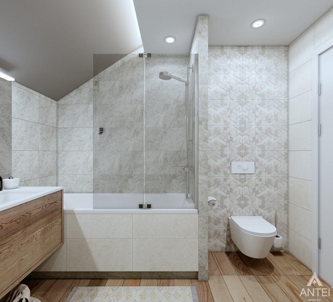 Дизайн интерьера дома c мансардой в Гомеле - санузел фото №1