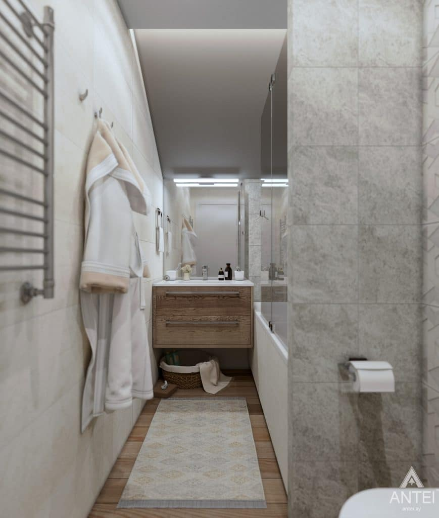 Дизайн интерьера дома c мансардой в Гомеле - санузел фото №2