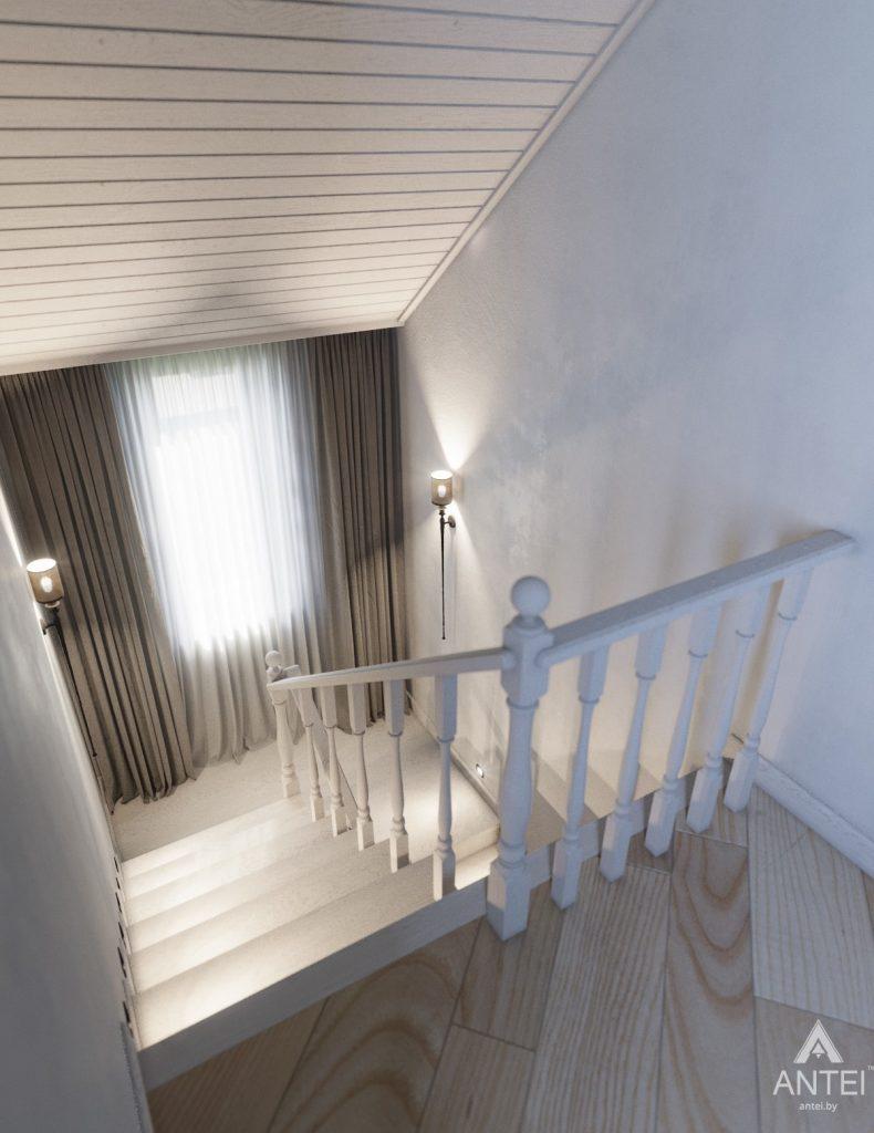Дизайн интерьера дома c мансардой в Гомеле - лестница фото №2