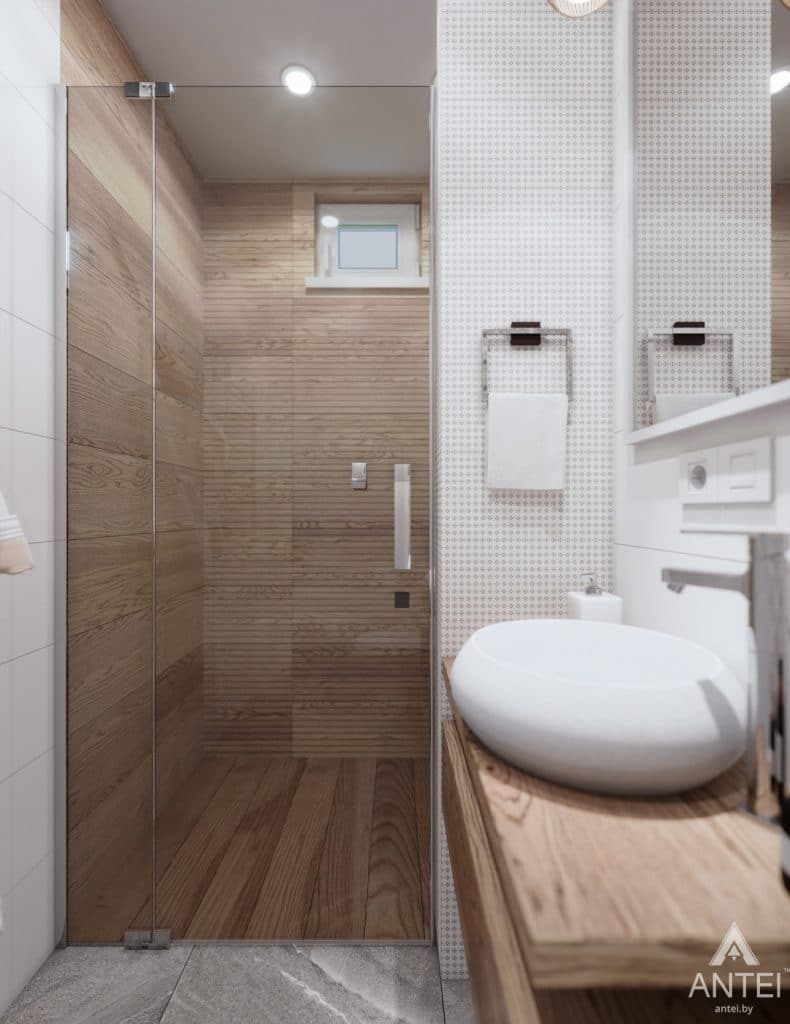 Дизайн интерьера дома c мансардой в Гомеле - санузел фото №7