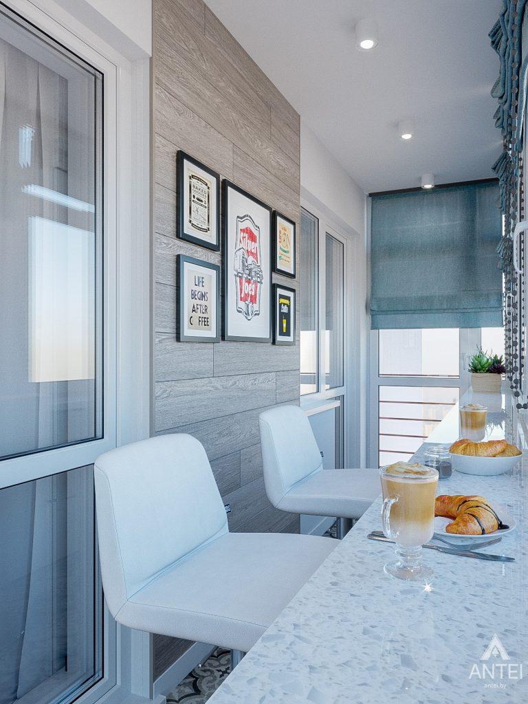 Дизайн интерьера трехкомнатная квартира в Гомеле , ул. Волотовская - балкон фото №1