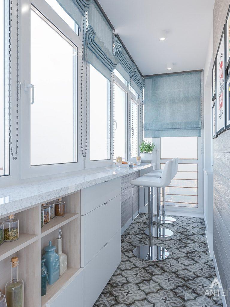 Дизайн интерьера трехкомнатная квартира в Гомеле , ул. Волотовская - балкон фото №2