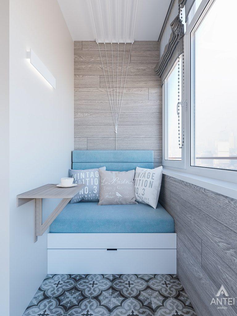Дизайн интерьера трехкомнатная квартира в Гомеле , ул. Волотовская - балкон фото №4
