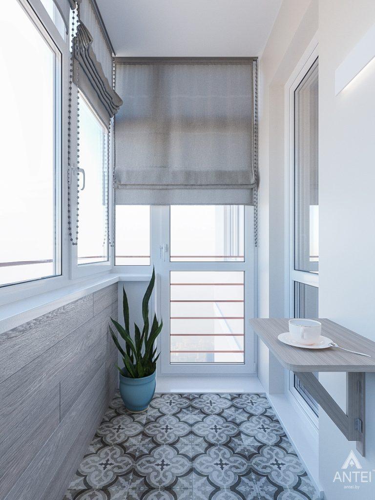 Дизайн интерьера трехкомнатная квартира в Гомеле , ул. Волотовская - балкон фото №3