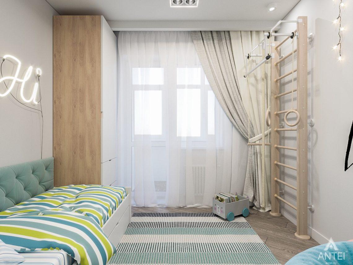 Дизайн интерьера трехкомнатная квартира в Гомеле , ул. Волотовская - детская комната фото №2