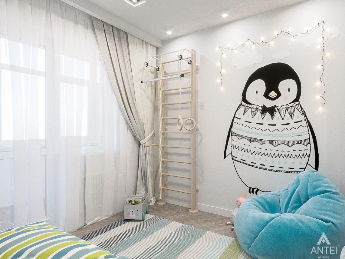 Дизайн интерьера трехкомнатная квартира в Гомеле , ул. Волотовская - детская комната фото №1