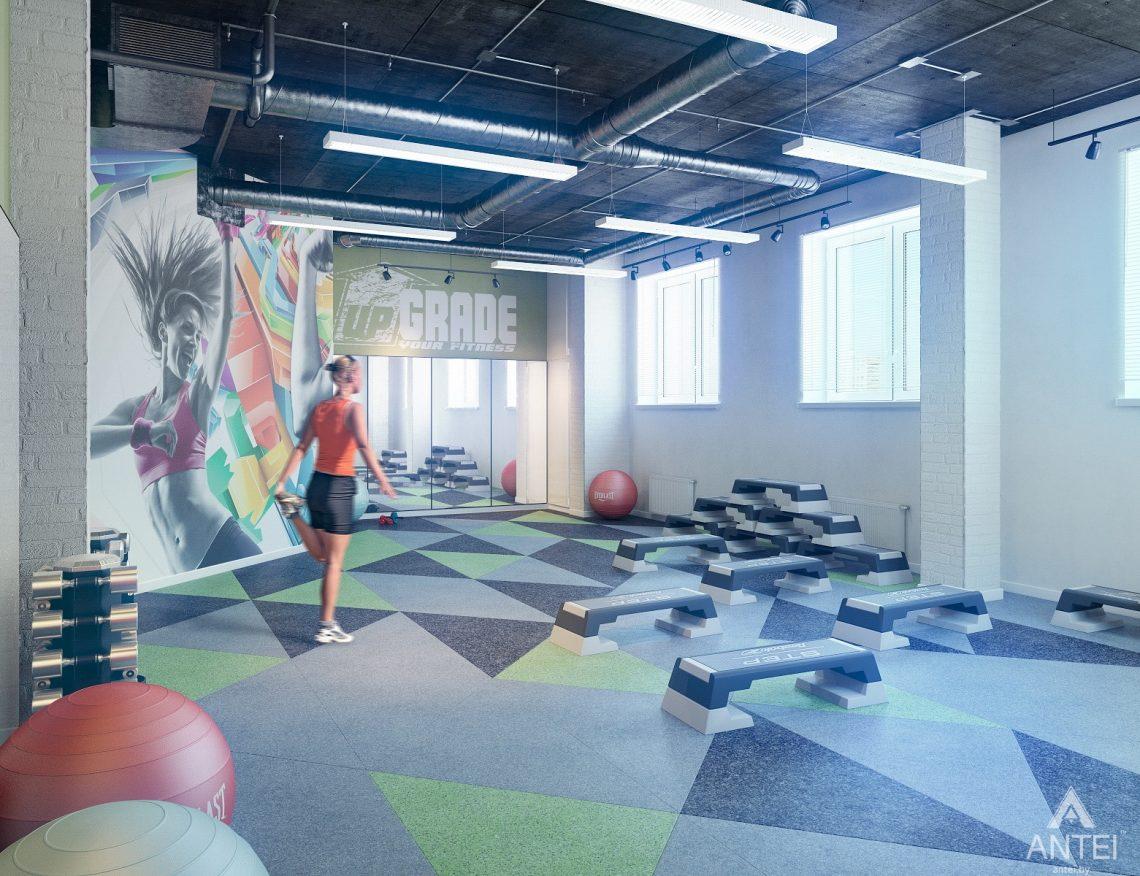 Дизайн интерьера тренажерного зала в Гомеле - фитнес зал фото №1