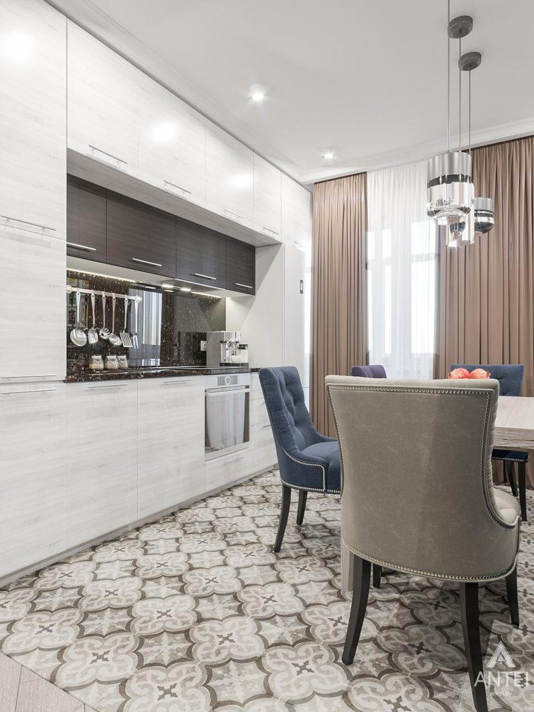 Дизайн интерьера трехкомнатная квартира в Гомеле , ул. Волотовская - гостиная-кухня фото №3