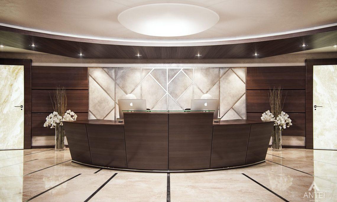 Дизайн интерьера офиса финансовой компании в Москве - холл фото №1