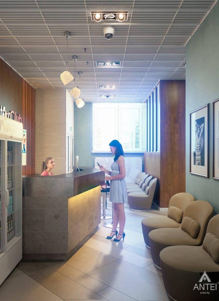 Дизайн интерьера тренажерного зала в Гомеле - холл фото №1