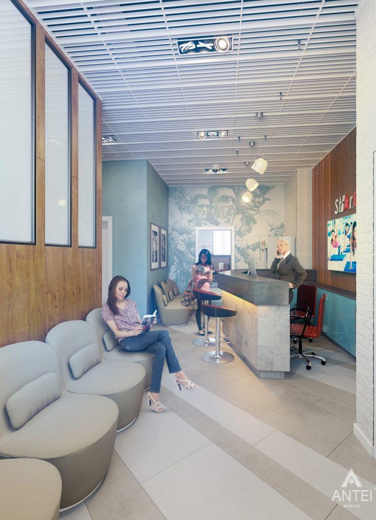 Дизайн интерьера тренажерного зала в Гомеле - холл фото №2