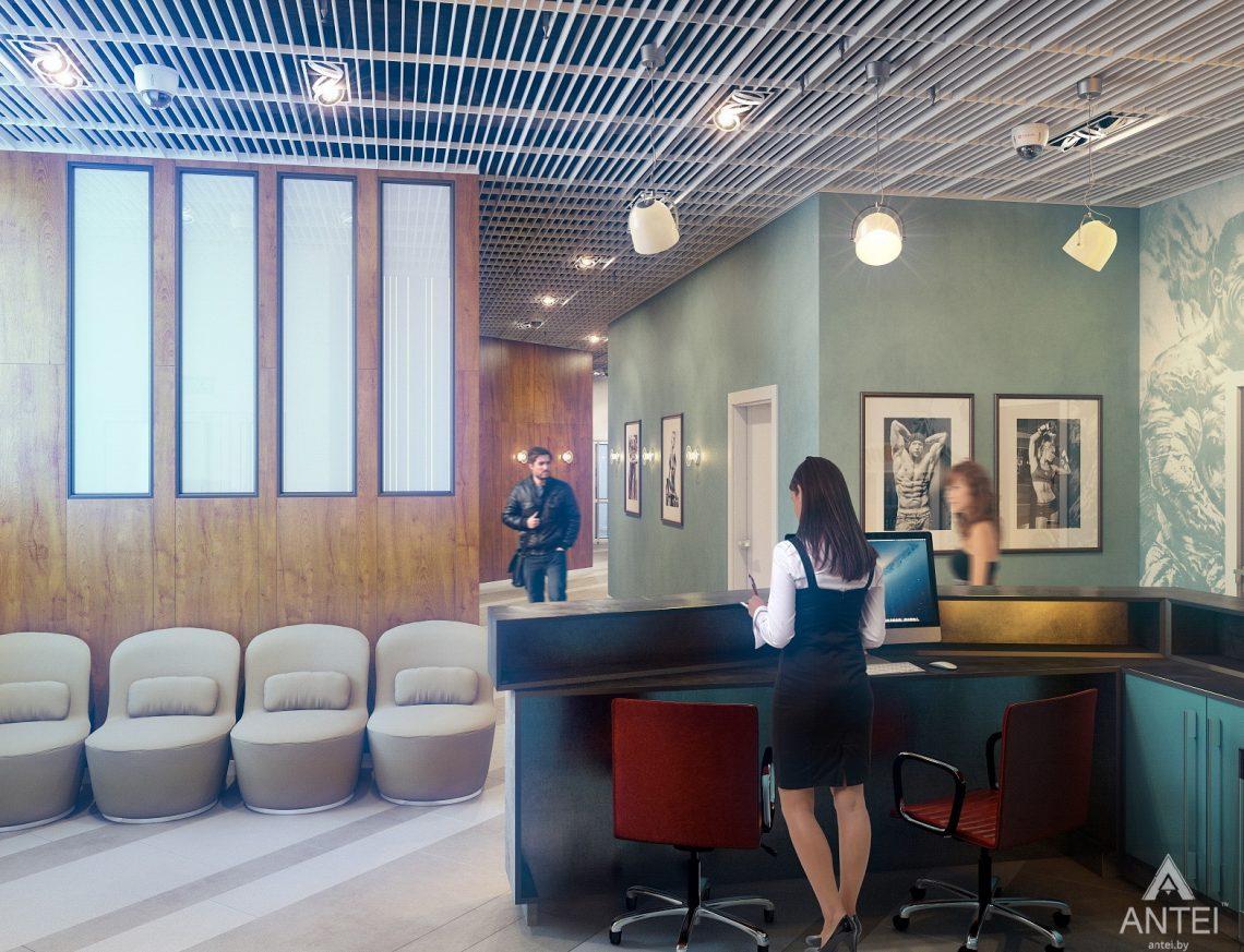 Дизайн интерьера тренажерного зала в Гомеле - холл фото №4