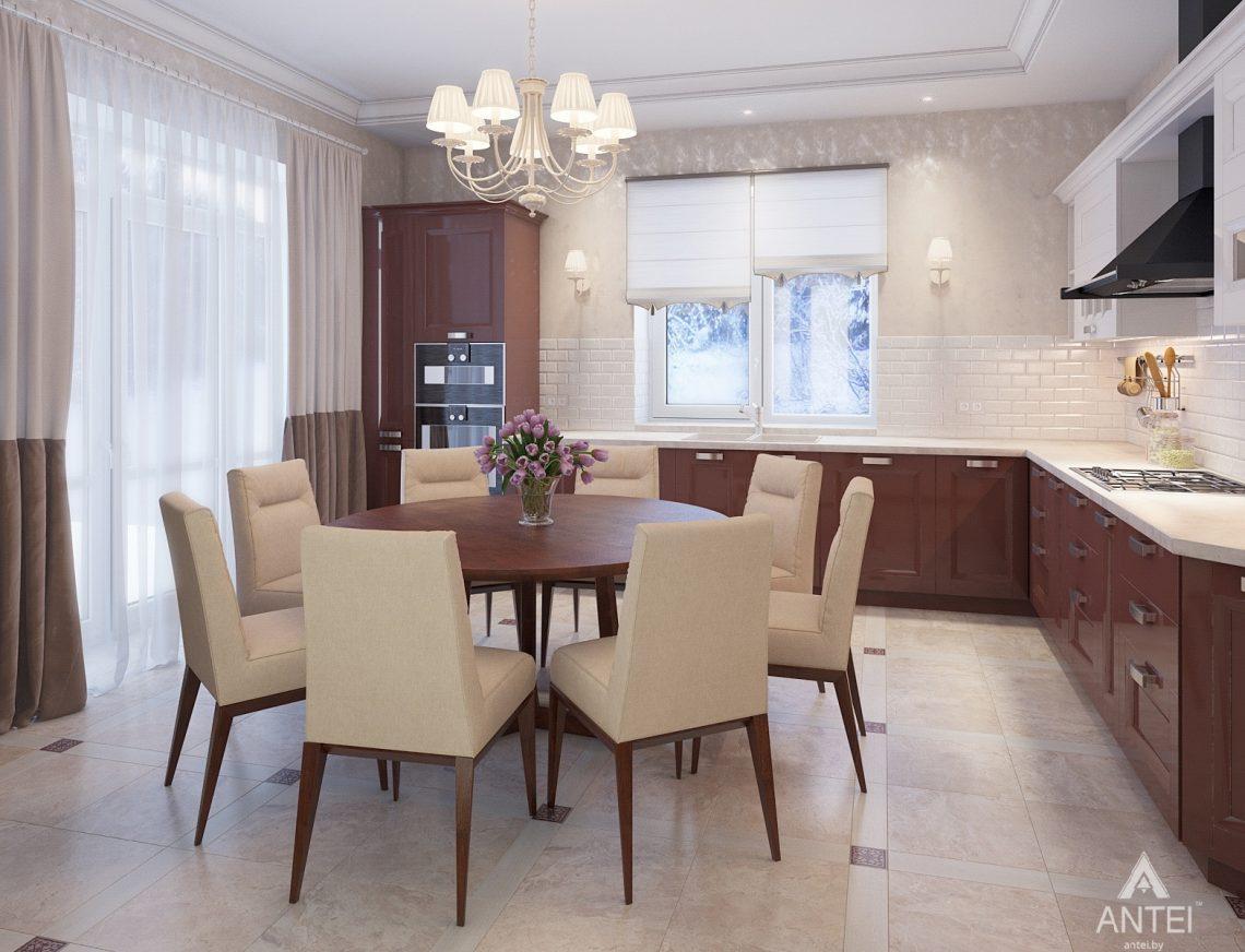 Дизайн интерьера коттеджа в Гродно - кухня фото №1