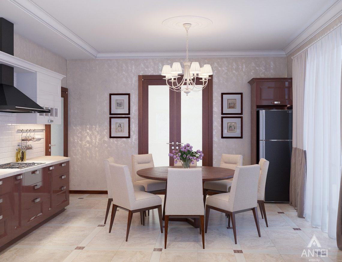 Дизайн интерьера коттеджа в Гродно - кухня фото №5