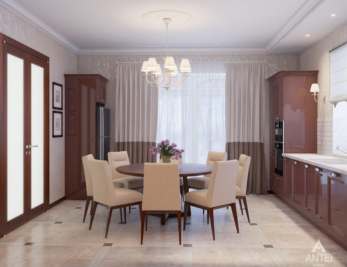 Дизайн интерьера коттеджа в Гродно - кухня фото №2