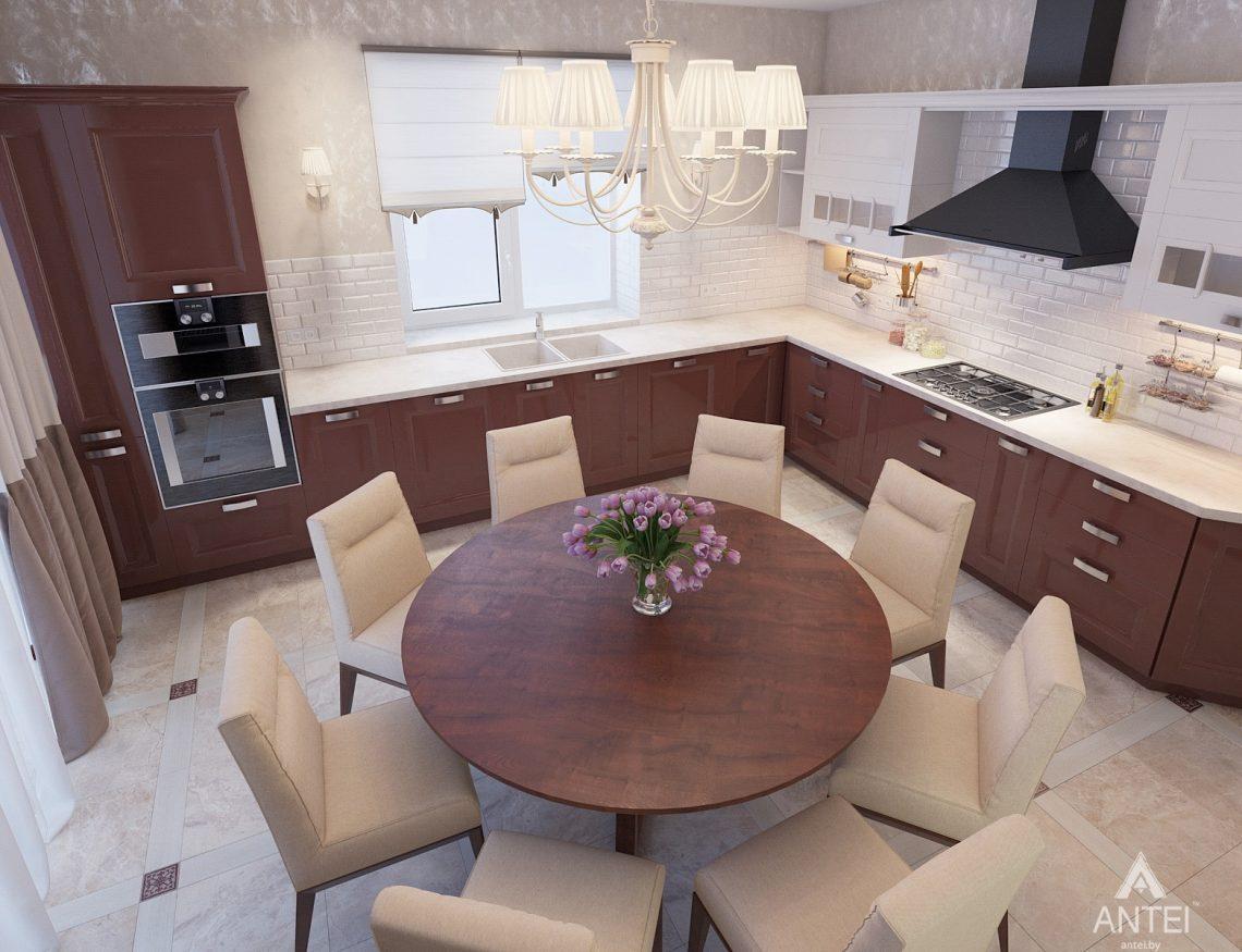 Дизайн интерьера коттеджа в Гродно - кухня фото №3