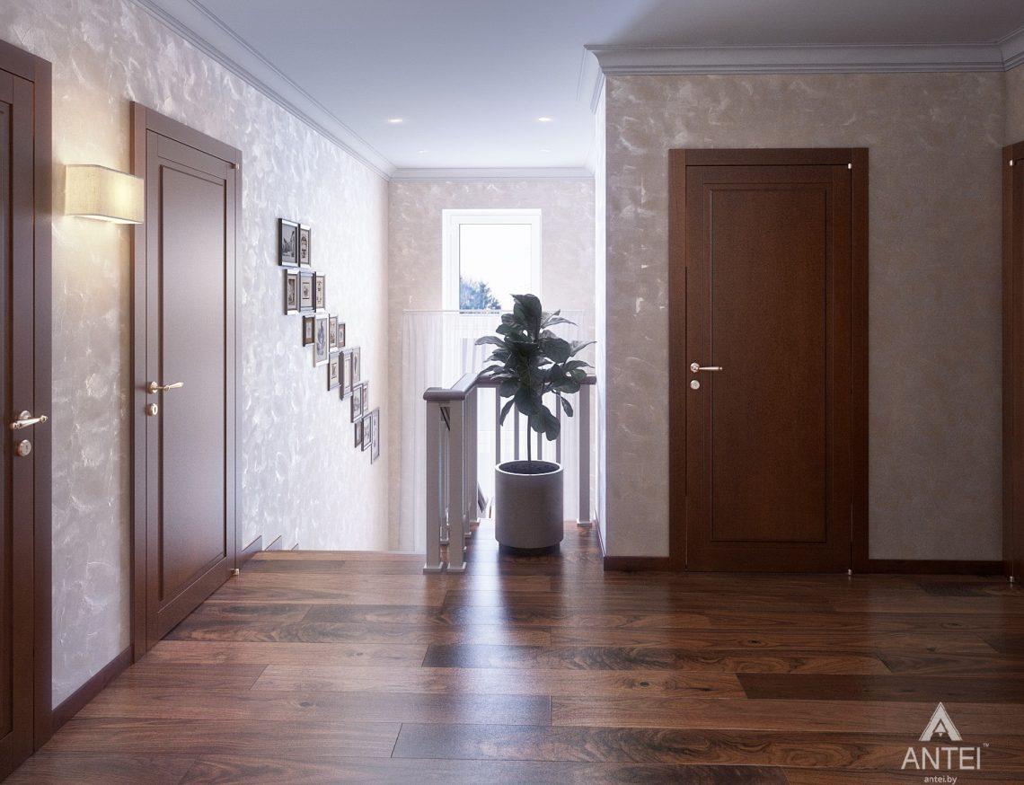 Дизайн интерьера коттеджа в Гродно - лестница фото №2