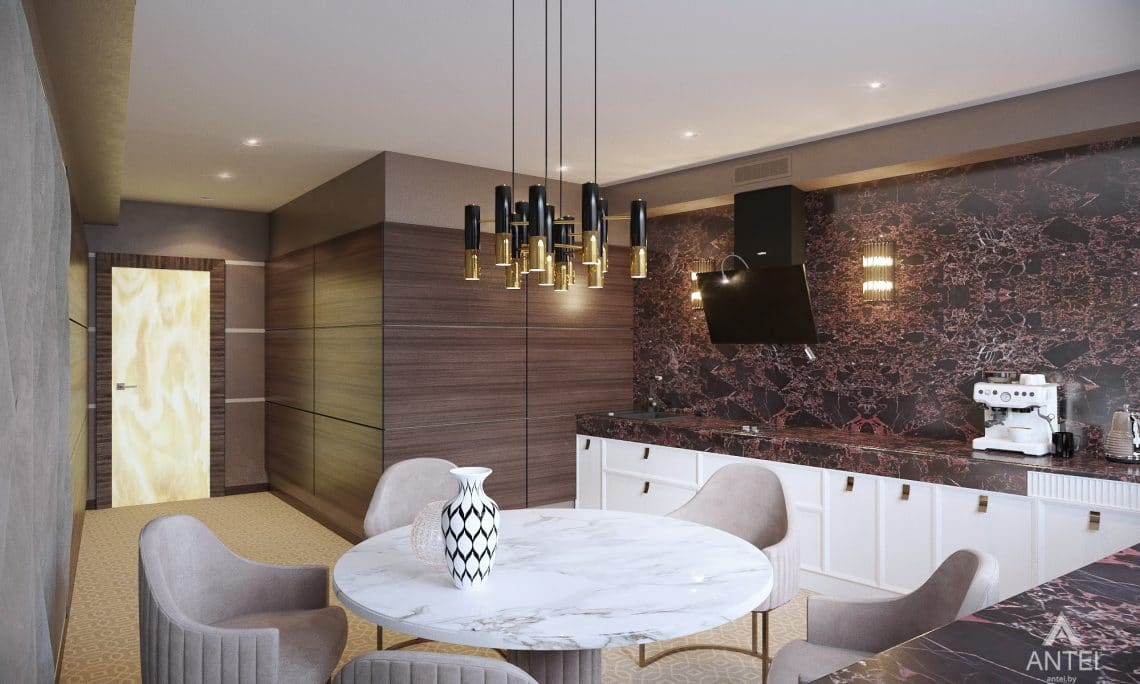 Дизайн интерьера офиса финансовой компании в Москве - кухня фото №1