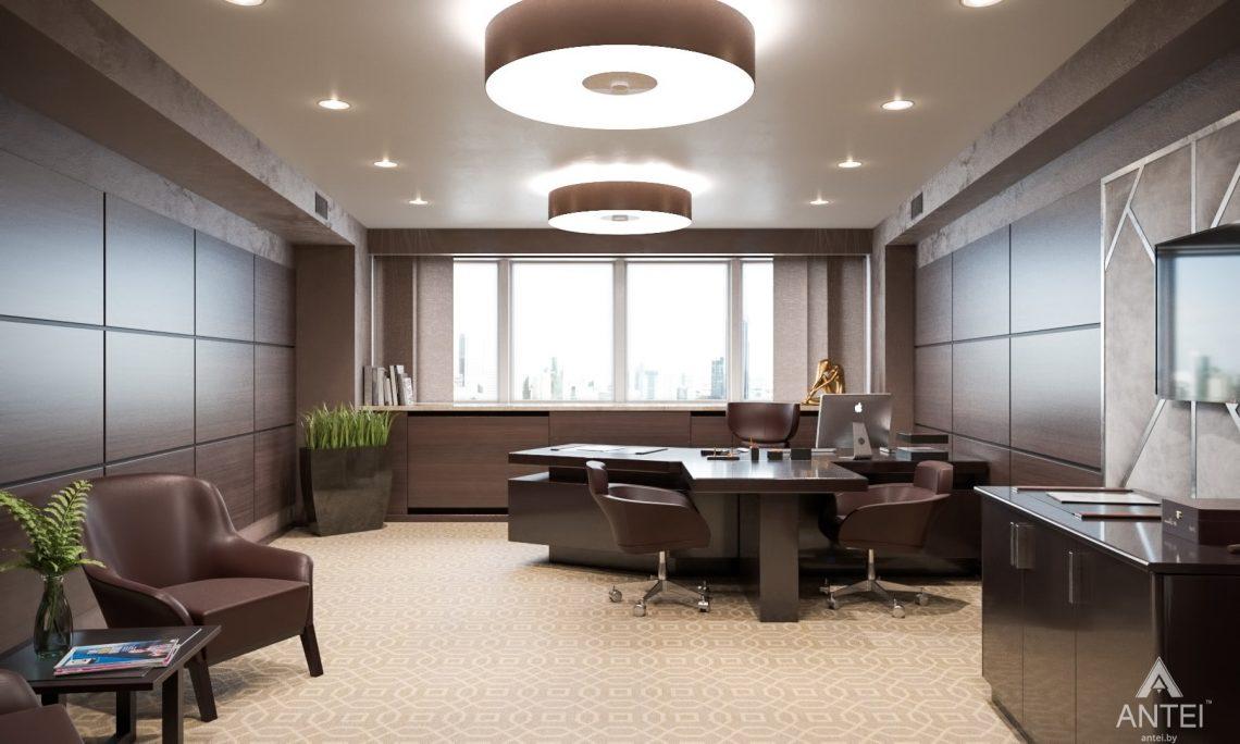 Дизайн интерьера офиса финансовой компании в Москве - кабинет фото №1