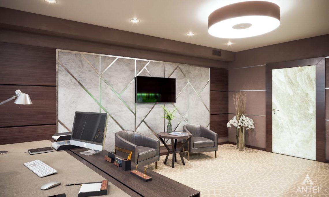 Дизайн интерьера офиса финансовой компании в Москве - кабинет фото №2
