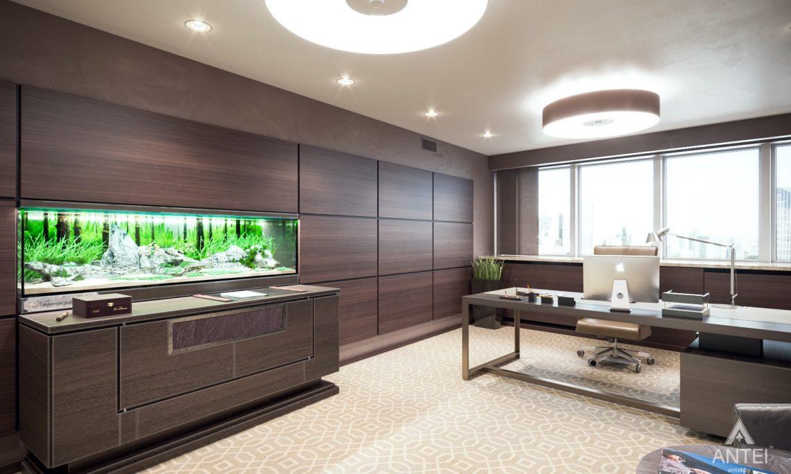 Дизайн интерьера офиса финансовой компании в Москве - кабинет фото №3