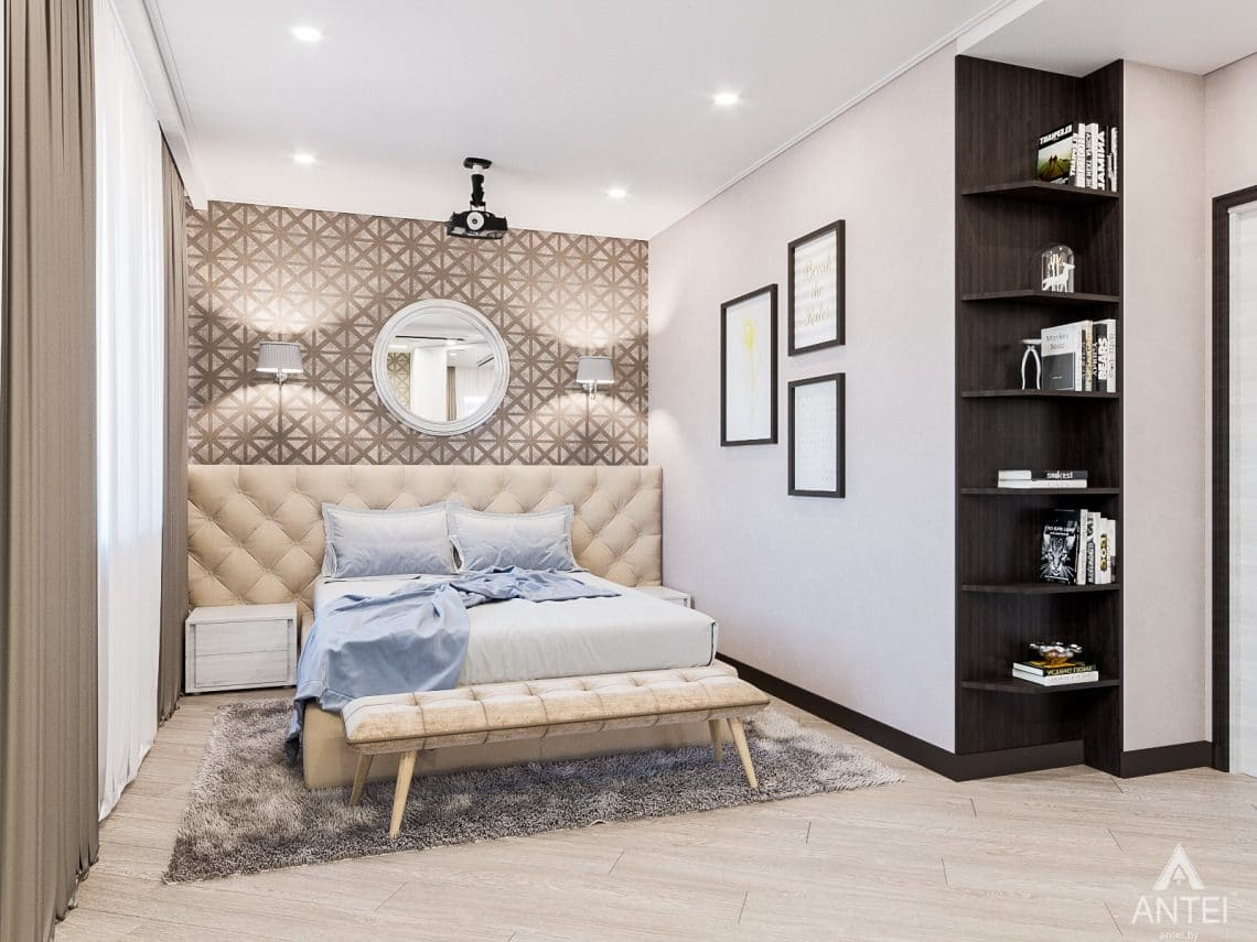 Дизайн интерьера трехкомнатная квартира в Гомеле , ул. Волотовская - спальня фото №1