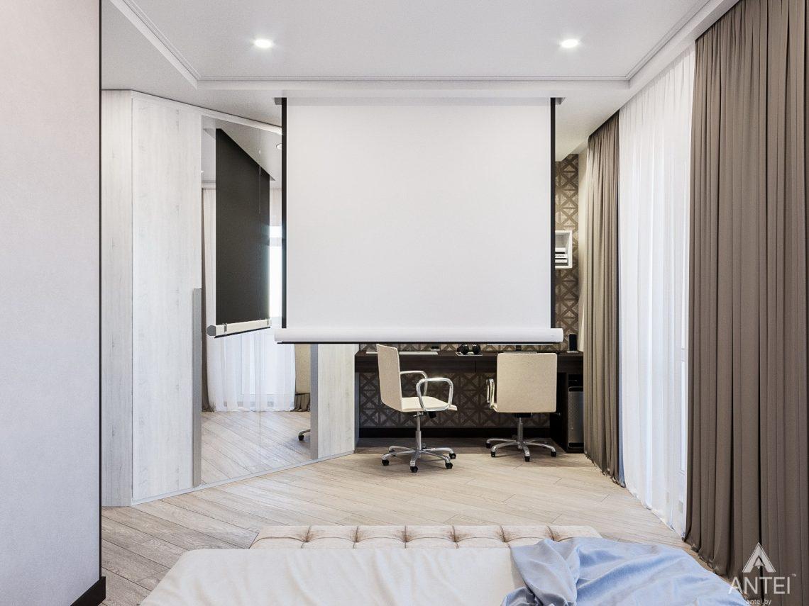 Дизайн интерьера трехкомнатная квартира в Гомеле , ул. Волотовская - спальня фото №4