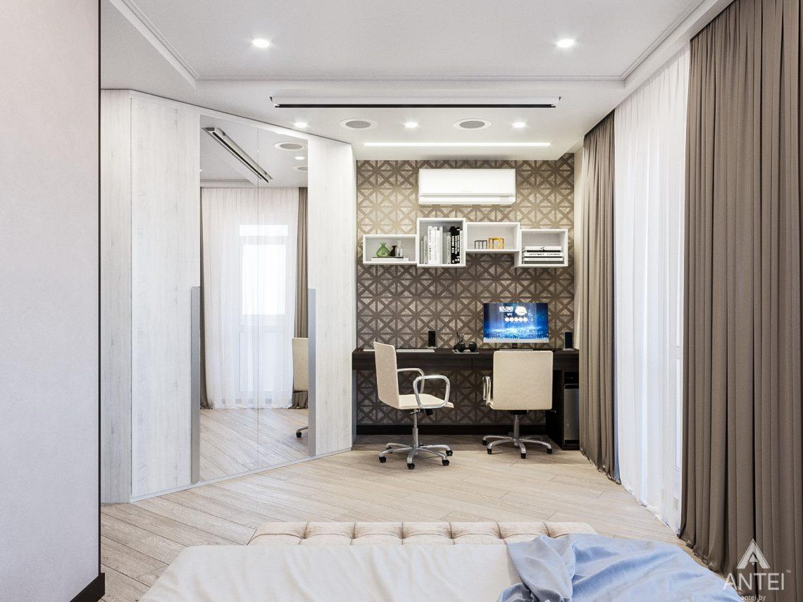 Дизайн интерьера трехкомнатная квартира в Гомеле , ул. Волотовская - спальня фото №3