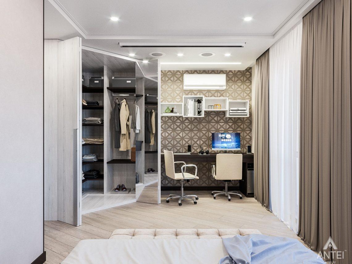 Дизайн интерьера трехкомнатная квартира в Гомеле , ул. Волотовская - спальня фото №5