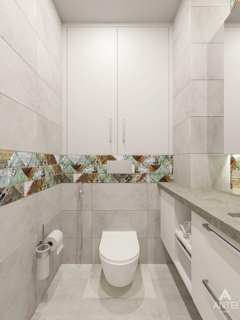 Дизайн интерьера трехкомнатная квартира в Гомеле , ул. Волотовская - санузел фото №4