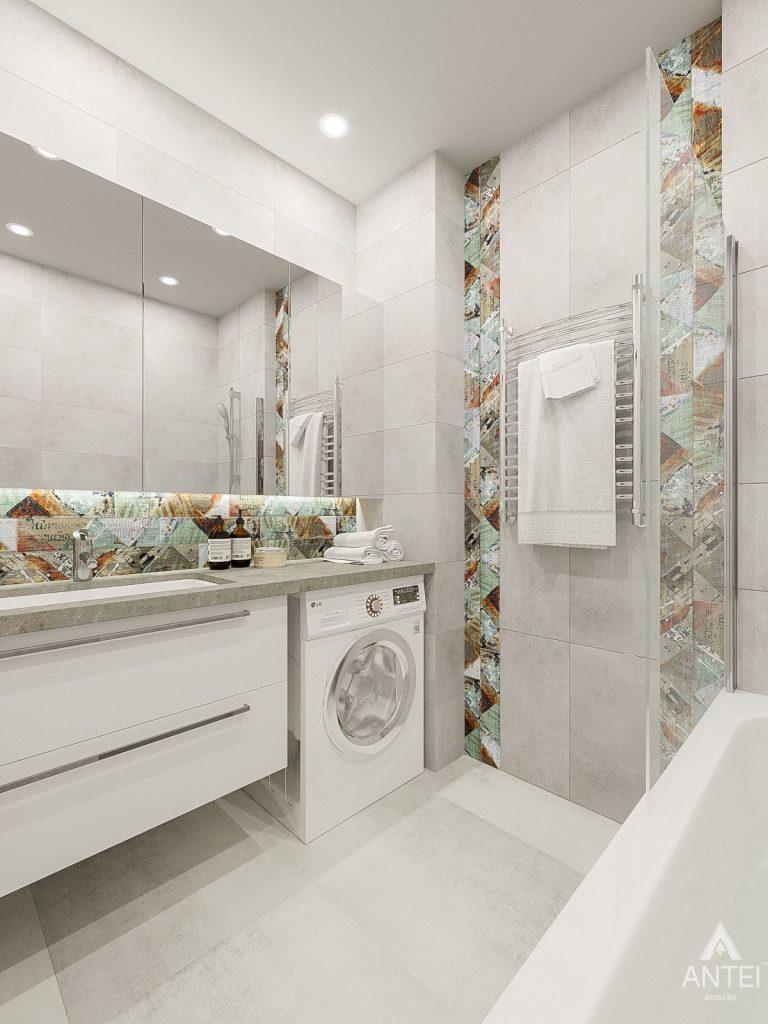 Дизайн интерьера трехкомнатная квартира в Гомеле , ул. Волотовская - санузел фото №1