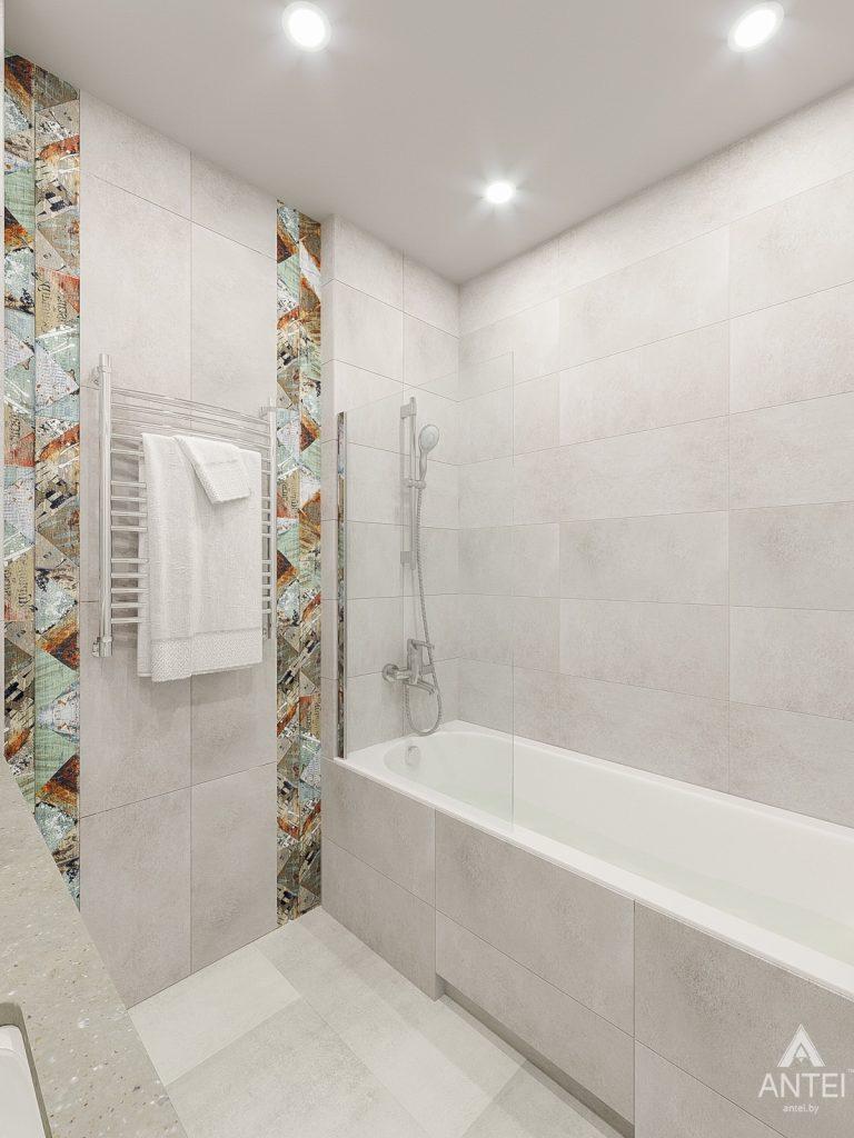 Дизайн интерьера трехкомнатная квартира в Гомеле , ул. Волотовская - санузел фото №2